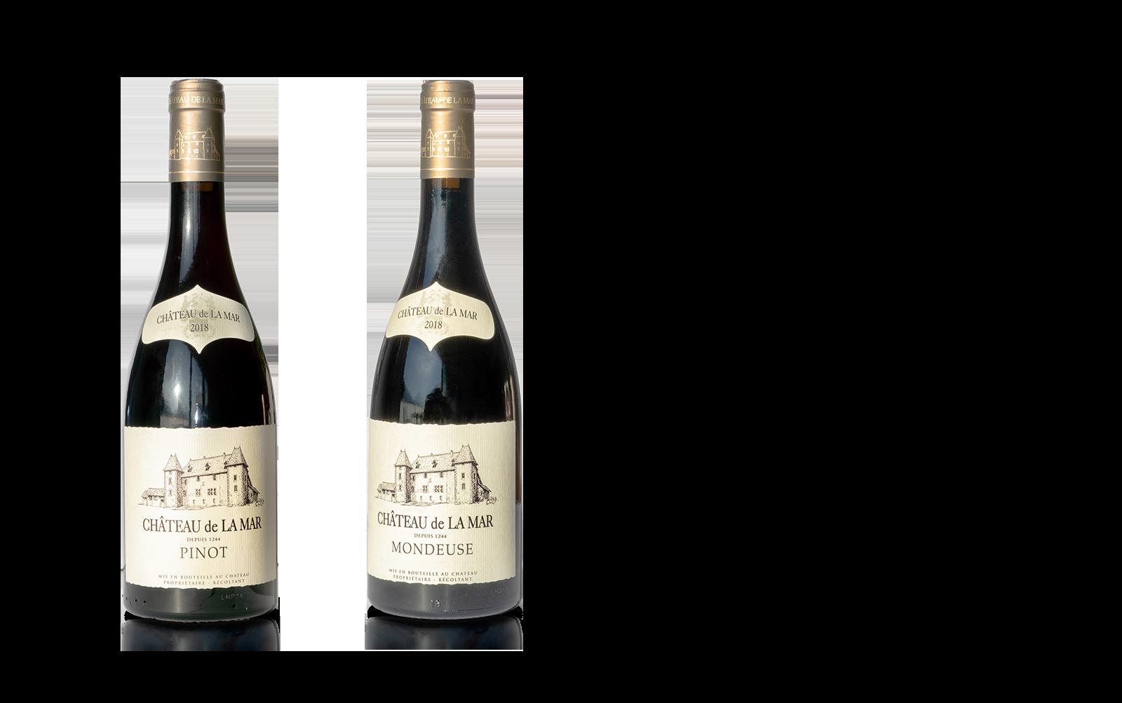 Pinot et Mondeuse de Savoie Vins Rouges Du Chateau de La Mar